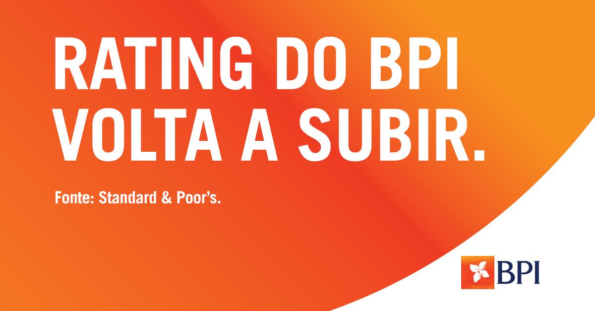 Banco BPI | Rating do BPI volta a subir