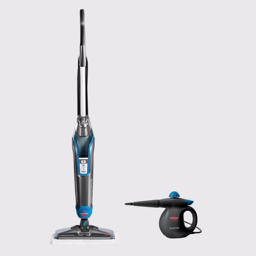 Mopa Limpeza a Vapor Bissel Power Fresh Steam Mop e Máquina de Limpeza a Vapor Multifunções Bissell Steam Shot