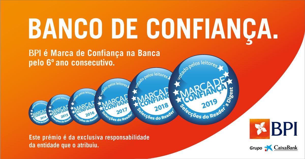 BPI é o Banco de Confiança dos portugueses pelo 6º ano consecutivo | Banco BPI