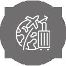 icone Linha de Apoio à Economia Covid-19 - Agências de Viagens e Operadores Turísticos